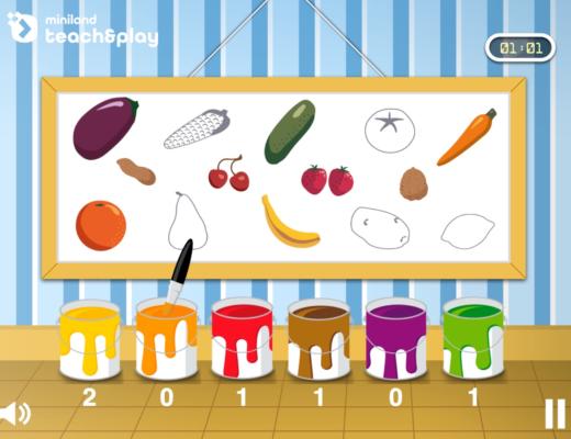 顏色:水果和蔬菜