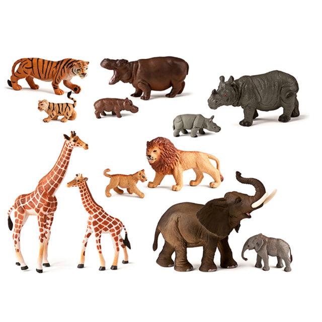 WILD ANIMALS + BABIES 12 UTS
