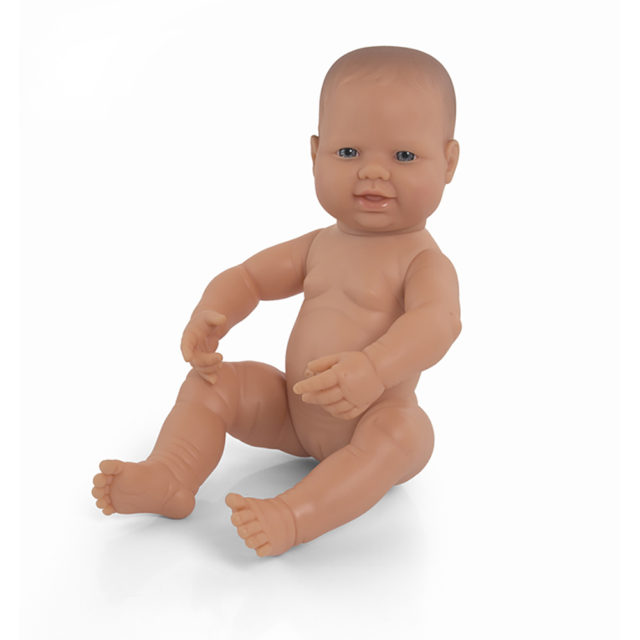 NEWBORN DOLL CAUCASIAN GIRL 40CM