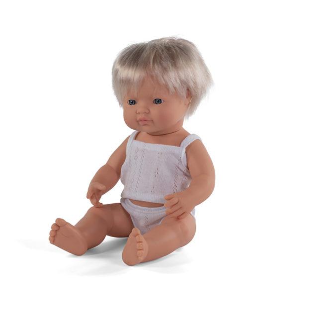 BABY DOLL CAUCASIAN BOY 38 CM