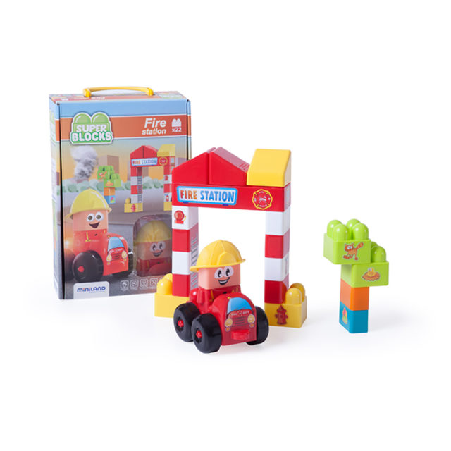 SUPER BLOCKS FIRE STATION 22PC