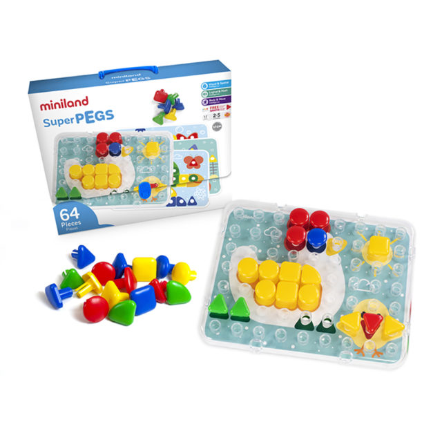 SUPERPEGS 64 PCS. PRIMARY C.