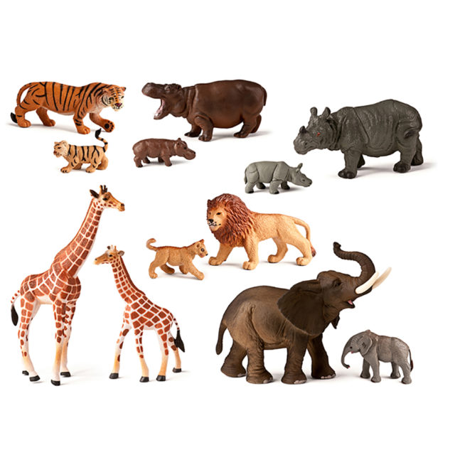 WILD ANIMALS + BABIES 12 UTS