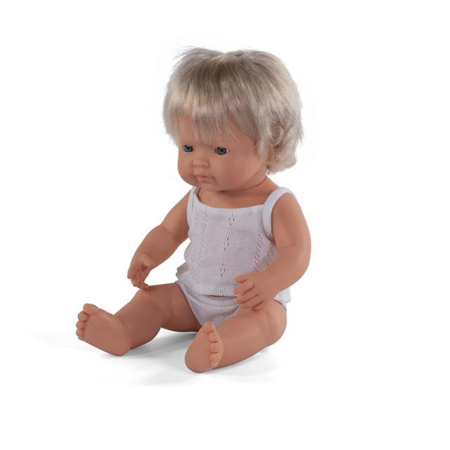 BABY DOLL CAUCASIAN GIRL 38CM