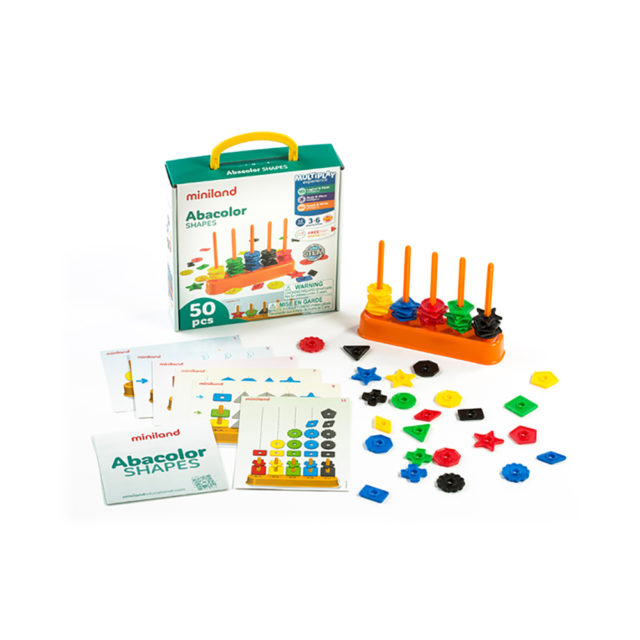 ABACOLOR SHAPES 50 PCS