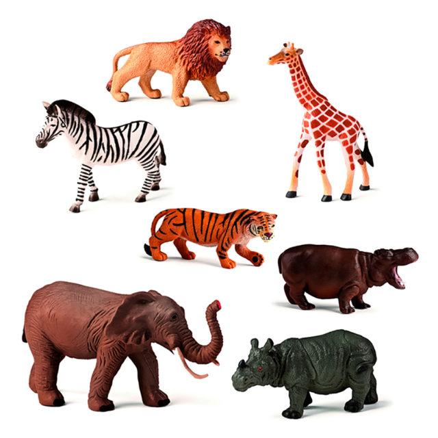 ANIMALES SELVA 7 UDS