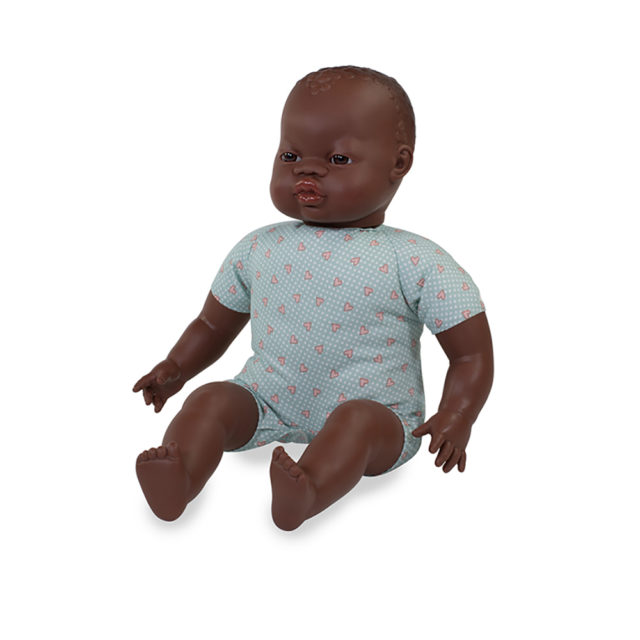 AFRICAN SOFT BODY DOLL 40 CM