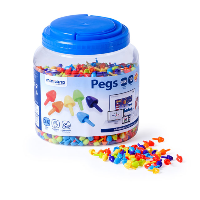 PEGS 10MM 2600 PCS. BRIGHT C.