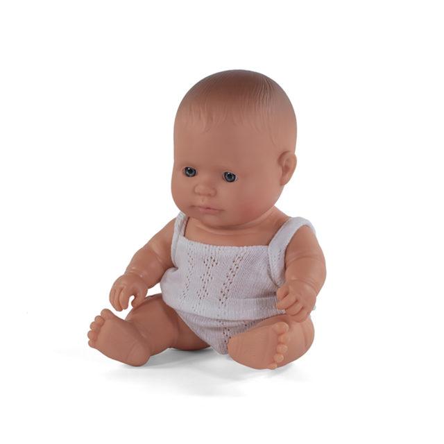 BABY DOLL CAUCASIAN BOY 21CM