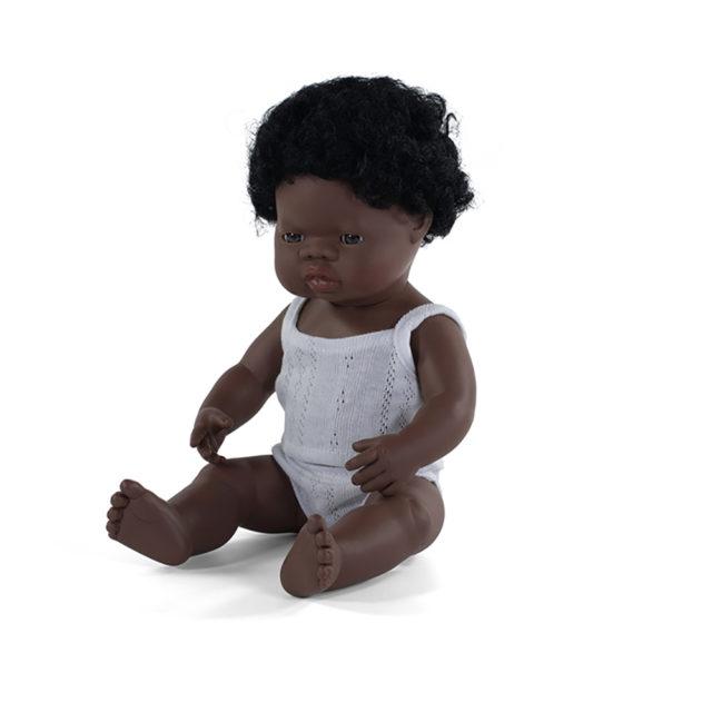 BABY DOLL AFRICAN BOY 38 CM